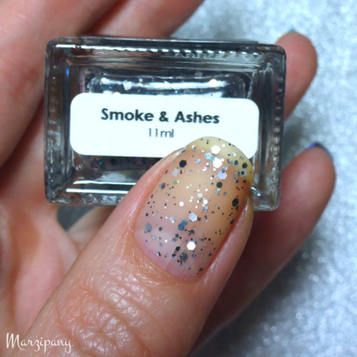 Swatch of Smoke & Ashes top coat by Benigna @Marzipany